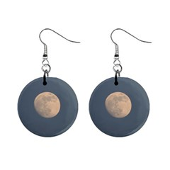 The Moon And Blue Sky Mini Button Earrings by picsaspassion