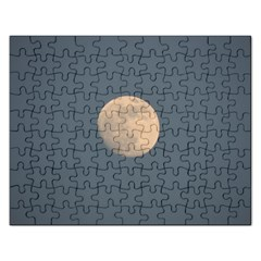 The Moon And Blue Sky Rectangular Jigsaw Puzzl by picsaspassion