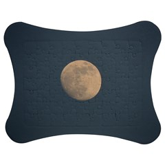 The Moon And Blue Sky Jigsaw Puzzle Photo Stand (bow) by picsaspassion