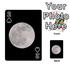 Full Moon At Night Playing Cards 54 Designs  by picsaspassion
