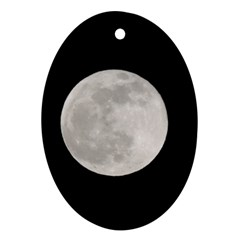 Full Moon At Night Oval Ornament (two Sides) by picsaspassion