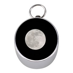 Full Moon At Night Mini Silver Compasses by picsaspassion