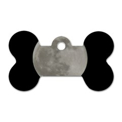 Close To The Full Moon Dog Tag Bone (one Side) by picsaspassion