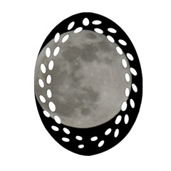 Close To The Full Moon Oval Filigree Ornament (2 Side)  by picsaspassion