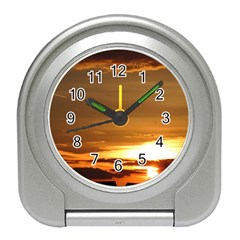 Summer Sunset Travel Alarm Clocks by picsaspassion