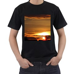 Summer Sunset Men s T Shirt (black) (two Sided) by picsaspassion