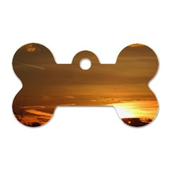 Summer Sunset Dog Tag Bone (two Sides) by picsaspassion