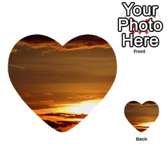 Summer Sunset Multi Purpose Cards (heart)  by picsaspassion