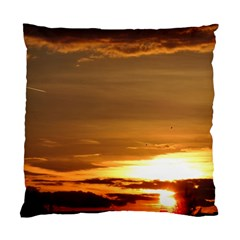 Summer Sunset Standard Cushion Case (one Side) by picsaspassion
