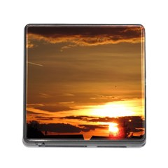 Summer Sunset Memory Card Reader (square) by picsaspassion