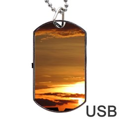 Summer Sunset Dog Tag Usb Flash (one Side) by picsaspassion