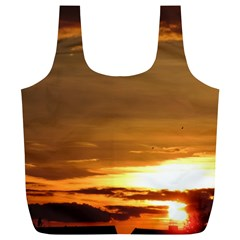 Summer Sunset Full Print Recycle Bags (l)  by picsaspassion