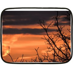 Tree Branches And Sunset Fleece Blanket (mini) by picsaspassion