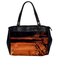 Tree Branches And Sunset Office Handbags by picsaspassion