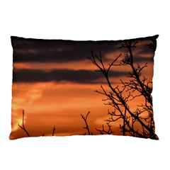 Tree Branches And Sunset Pillow Case (two Sides) by picsaspassion