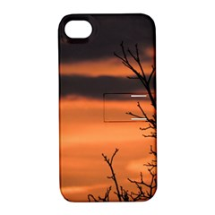 Tree Branches And Sunset Apple Iphone 4/4s Hardshell Case With Stand by picsaspassion