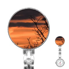 Tree Branches And Sunset Stainless Steel Nurses Watch by picsaspassion