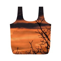 Tree Branches And Sunset Full Print Recycle Bags (m)  by picsaspassion