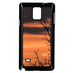 Tree Branches And Sunset Samsung Galaxy Note 4 Case (black) by picsaspassion