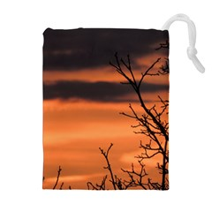 Tree Branches And Sunset Drawstring Pouches (extra Large) by picsaspassion