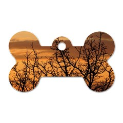 Colorful Sunset Dog Tag Bone (two Sides) by picsaspassion