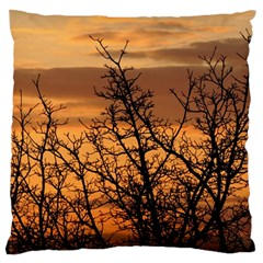 Colorful Sunset Large Flano Cushion Case (two Sides)