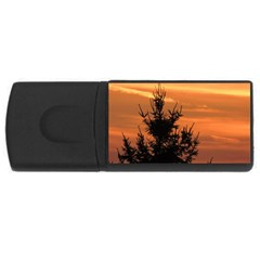 Christmas Tree And Sunset Usb Flash Drive Rectangular (4 Gb)  by picsaspassion