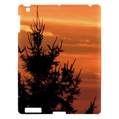 Christmas Tree And Sunset Apple Ipad 3/4 Hardshell Case by picsaspassion