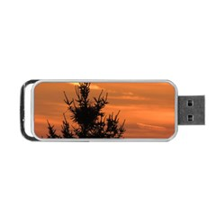 Christmas Tree And Sunset Portable Usb Flash (two Sides) by picsaspassion