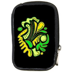 Yellow And Green Spot Compact Camera Cases by Valentinaart