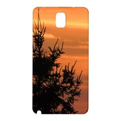 Christmas Tree And Sunset Samsung Galaxy Note 3 N9005 Hardshell Back Case by picsaspassion