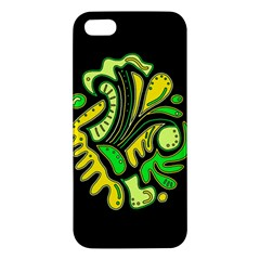 Yellow And Green Spot Apple Iphone 5 Premium Hardshell Case by Valentinaart
