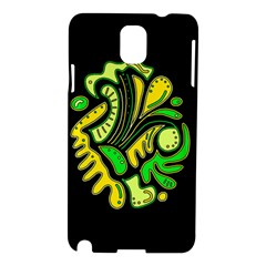 Yellow And Green Spot Samsung Galaxy Note 3 N9005 Hardshell Case by Valentinaart