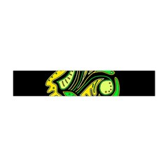 Yellow And Green Spot Flano Scarf (mini) by Valentinaart