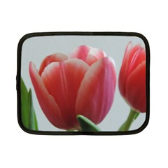 Red   White Tulip Flower Netbook Case (small)  by picsaspassion