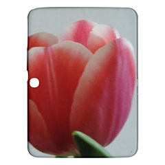 Red   White Tulip Flower Samsung Galaxy Tab 3 (10 1 ) P5200 Hardshell Case  by picsaspassion