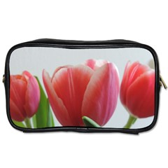 Red Tulips Toiletries Bags 2 Side by picsaspassion