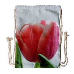 Red Tulips Drawstring Bag (large) by picsaspassion