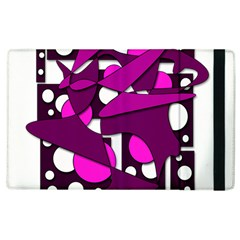 Something Purple Apple Ipad 2 Flip Case by Valentinaart