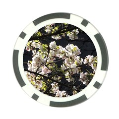 Blooming Japanese Cherry Flowers Poker Chip Card Guards by picsaspassion