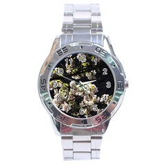 Japanese Cherry Flower Stainless Steel Analogue Watch by picsaspassion