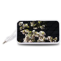 Japanese cherry flower Portable Speaker (White)  by picsaspassion