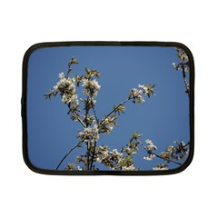 White Cherry Flowers And Blue Sky Netbook Case (small)  by picsaspassion