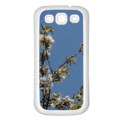 White Cherry Flowers And Blue Sky Samsung Galaxy S3 Back Case (white) by picsaspassion