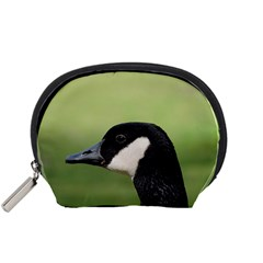 Goose Bird In Nature Accessory Pouches (small)  by picsaspassion