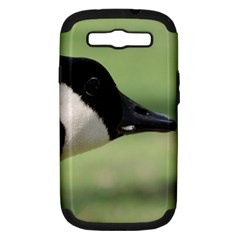 Goose, black and white Samsung Galaxy S III Hardshell Case (PC+Silicone) by picsaspassion