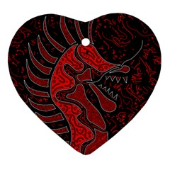 Red Dragon Ornament (heart)  by Valentinaart