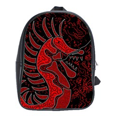 Red Dragon School Bags(large)  by Valentinaart