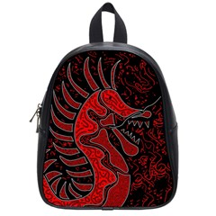 Red Dragon School Bags (small)  by Valentinaart