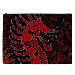 Red Dragon Cosmetic Bag (xxl)  by Valentinaart
